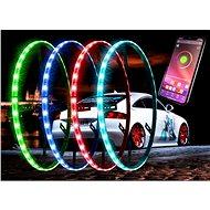 LED neony kruhové RGB určené pro montáž do kol  - LED pásek do auta