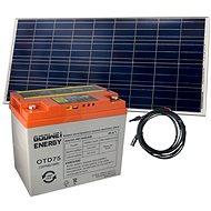 Set baterie GOOWEI ENERGY OTD75 (75Ah, 12V) a solární panel Victron Energy 115Wp/12V - Trakční baterie