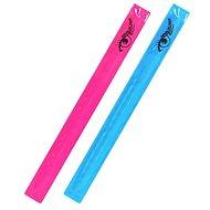 Pásek reflexní ROLLER 2ks růžový + modrý - Pásek