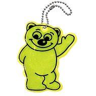 Přívěšek reflexní BEAR - žlutý - Přívěsek