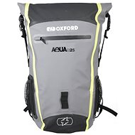 OXFORD Waterproof backpack Aqua B-25 (black / gray / yellow fluo, volume 25 l) - Motorcycle Bag