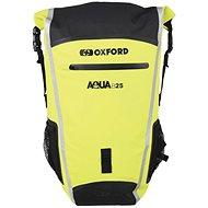 OXFORD Waterproof backpack Aqua B-25 (black / yellow fluo, volume 25 l) - Motorcycle Bag
