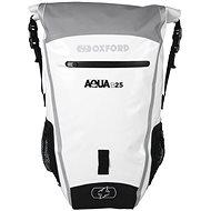 OXFORD Waterproof backpack Aqua B-25 (gray / white, volume 25 l) - Motorcycle Bag
