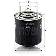 MANN-FILTER W1130/1 pro vozy AUDI;VW - Olejový filtr