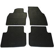 RIGUM ŠKODA KAMIQ 19- gumové koberečky černé DESIGN (sada 4 ks)