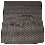 ACI VW PASSAT 2011->2014 Rubber Boot Tray with Car Illustration, Black (Variant) - Boot Tray
