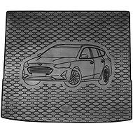 ACI FORD Focus 18- gumová vložka do kufru s ilustrací vozu černá (Kombi- horní poloha) - Vana do kufru