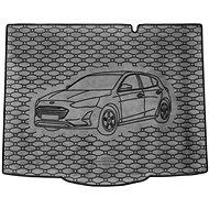 ACI FORD Focus 18- gumová vložka do kufru s ilustrací vozu černá (HB) - Vana do kufru