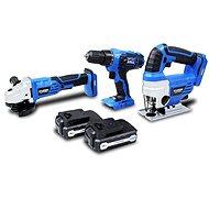 Hyundai Sada 3 kusů aku nářadí 18 V, 2x baterie - 1.5 Ah (Vrtací šroubovák, Bruska, Přímočará pila)