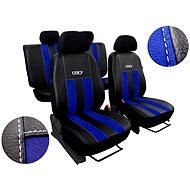 SIXTOL Autopotahy kožené s alcantarou GT modré - Autopotahy