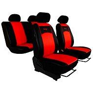 SIXTOL Autopotahy kožené černočervené - Autopotahy