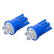 COMPASS Žárovka 4LED 12V T10 modrá 2ks - LED autožárovka