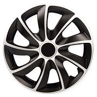 "QUAD Silver-Black 15"" 4pcs - Wheel Covers"