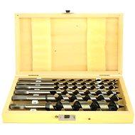 Vrtáky hadovité do dřeva, sada 6ks, 6-250mm, délka 230mm, v dřevěné kazetě - Vrták