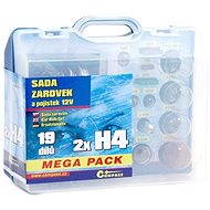 COMPASS  MEGA H4+H4+pojistky, náhradní sada 12V - Sada autožárovek
