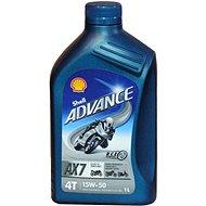 SHELL ADVANCE 4T AX7 15W-50 1l (SL/MA2) - Motorový olej