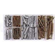 VOREL Set of Screws and Dowels 206 pcs - Fastening Material Set