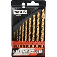 YATO Sada vrtáků do železa HSS-TiN 10ks 1-10mm - Sada vrtáků