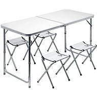 Cattara DOUBLE šedý + 4x židlička - Stolek