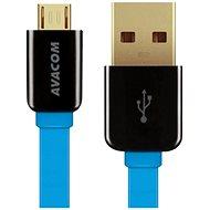 AVACOM MIC-120B microUSB 120cm modrá - Datový kabel