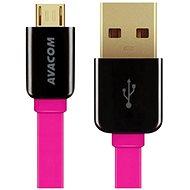 AVACOM MIC-120P microUSB 120cm růžová - Datový kabel