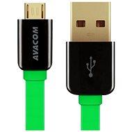AVACOM MIC-40G microUSB 40cm zelená - Datový kabel