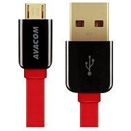 AVACOM MIC-40R microUSB 40cm červená - Datový kabel