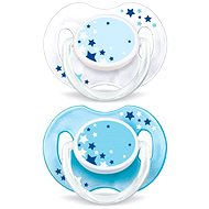 Philips AVENT Night-time soother, 2-pack blue - Pacifier