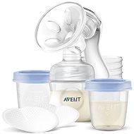Philips AVENT Manuální odsávačka Natural 125 ml + VIA pohárky 180 ml - 5 ks - Odsávačka mléka