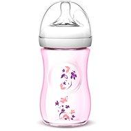 Philips AVENT kojenecká láhev Natural, 260 ml - růžová, květ - Láhev na pití pro děti