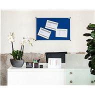 AVELI 90x60cm modrá, hliníkový rám - Nástěnka