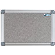 AVELI 90 x 60cm Grey, Aluminium Frame - Notice-board