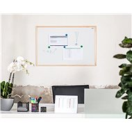 AVELI 90x60cm, dřevěný rám  - Magnetická tabule