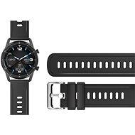 Aligator Watch 22 mm silikonový řemínek černý - Řemínek