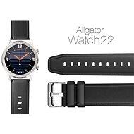 Aligator Watch 22 mm kožený řemínek černý