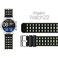Aligator Watch 22 mm silikonový řemínek Duální zelený - Řemínek