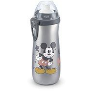 NUK láhev Sports Cup 450 ml - Mickey, šedá - Láhev na pití pro děti