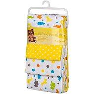 T-tomi Pleny látkové 4 ks - žluté žirafy - Dětské pleny
