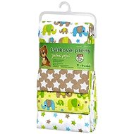 T-tomi Cloth Nappies 4 pcs - green elephants - Cloth Diapers