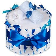 T-tomi diaper cake - large whale - Nappy cake