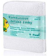 T-tomi Bambusové žínky 4 ks - Bílá - Žínka