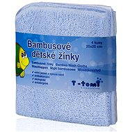 T-tomi Bamboo Baby Washcloths 4ct - Blue - Washcloth