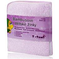 T-tomi Bambusové žínky 4 ks - Růžová - Žínka