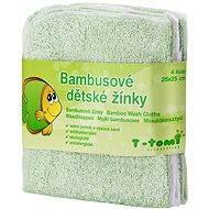 T-tomi Bamboo Baby Washcloths 4ct - Green - Washcloth