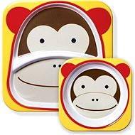 Skip hop Zoo Jídelní set - Opička - Dětská jídelní sada