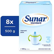 Sunar Standard 3, 8x 500g - Baby Formula
