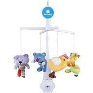 SUN BABY Plyšové hračky  (medvídek, kočka, kuřátko, žirafka) - Kolotoč nad postýlku