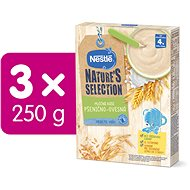 NESTLÉ NATURE'S SELECTION Pšenično-ovesná kaše 3× 250 g - Mléčná kaše