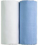T-tomi TETRA Osušky 2 ks white + blue - Dětská osuška