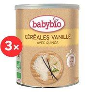 BABYBIO Rýžová kaše s quinou a vanilkou 3× 220 g